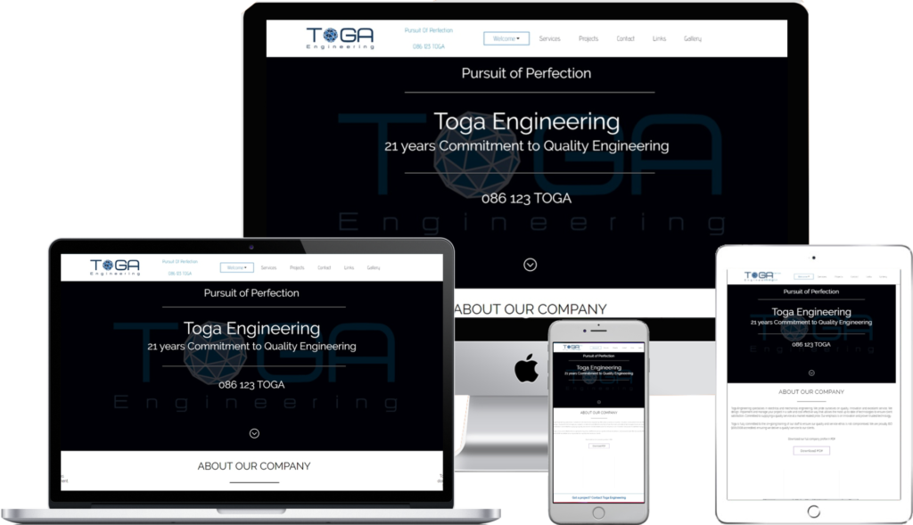 Toga Engineering by Pro Web Design